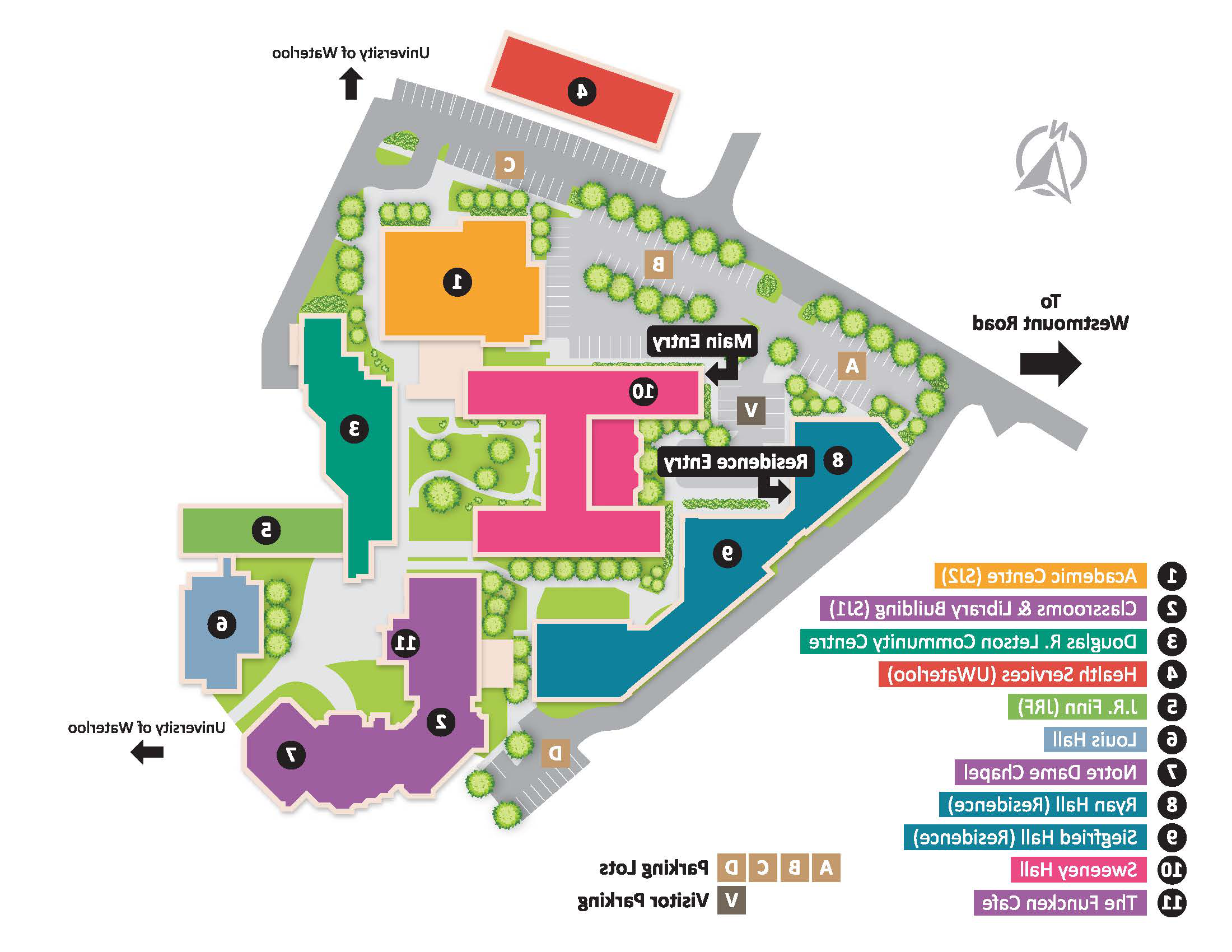 Image of a map of St Jeromes University