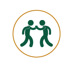 Icon 的 two peoples high fiving each other