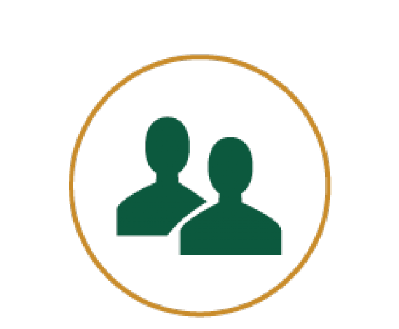 Icon of two person symbolising staff
